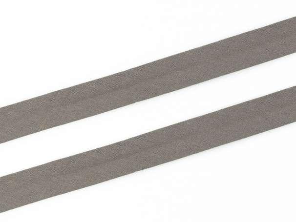 Schrägband Baumwolle - 20 mm - steingrau