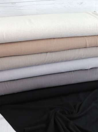 Viskose Leinen Stoff - Leinen-Struktur - verschiedene Farben