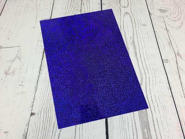 Fashion Plotterfolie - DIN A4 - blau sparkle