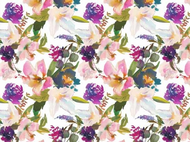 Modal Jersey - Watercolor Flowerbouquet