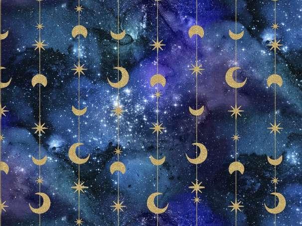 Baumwolle Stoff - Magical Galaxy - Stars & Moons