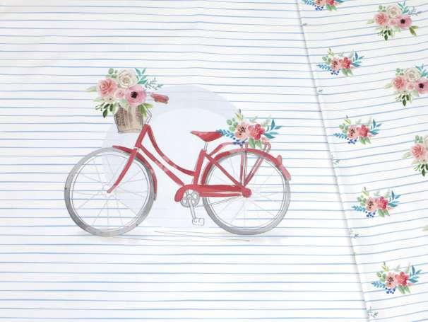 Jersey Stoff - PANEL - Fahrrad, rot