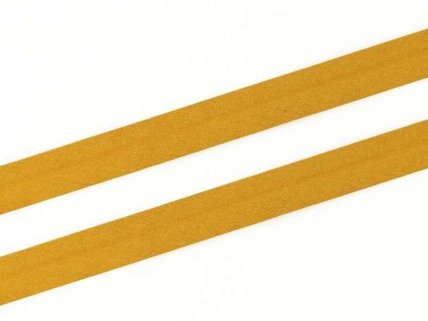 Schrägband Baumwolle - 20 mm - ocker