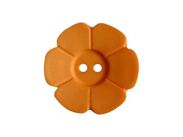 Knopf Blümchen 15mm - orange