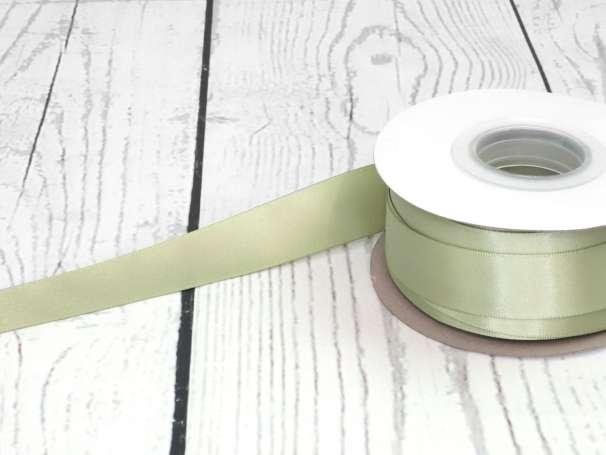 Satinband - 22mm - altgrün