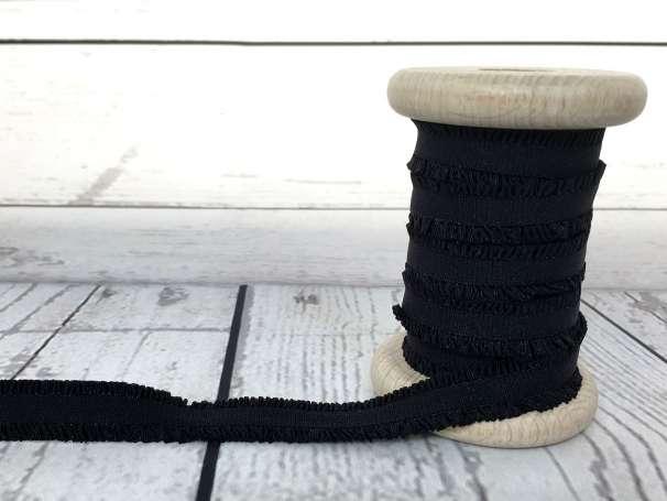 Rüschen - Gummiband - schwarz