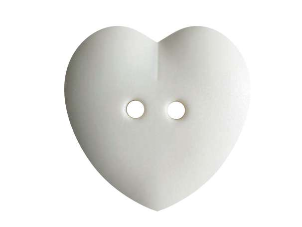 Knopf Herz 23mm - wollweiß