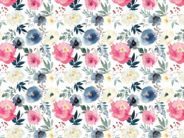 Flowers 0,5m Sonderposten Blumen Stoff Spitze