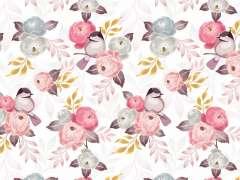 Jersey Stoff - Jardin de Fleurs - Vogel