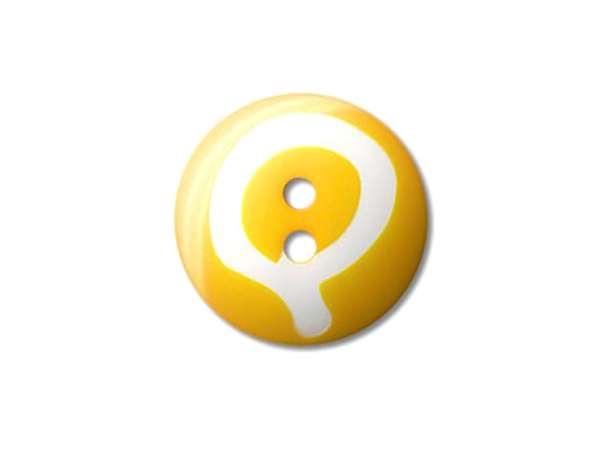 Buchstaben Knopf - Ø 20 mm - Q