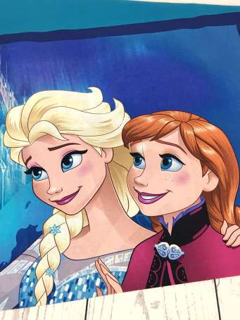 Baumwolle Stoff - PANEL - Frozen: Sisters are Magic (oben)