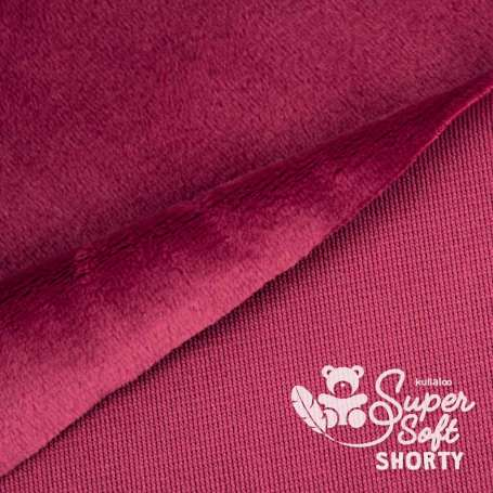 Plüschstoff - SuperSoft SHORTY - bordeaux