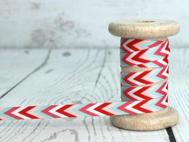 Ripsband bunt - Zacken