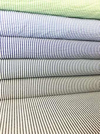 Seersucker - Streifen - verschiedene Farben