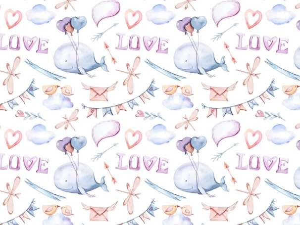 Jersey Stoff - LOVE Wal
