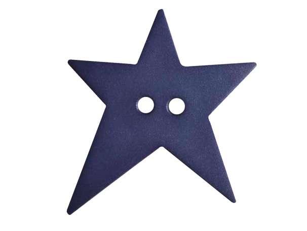 Knopf Stern 28mm - blau