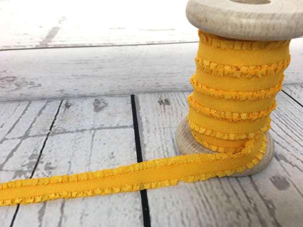 Rüschen - Gummiband - gelb