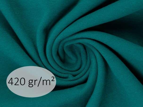 Bündchenstoff - ANTJE 420 gr. - petrolgrün