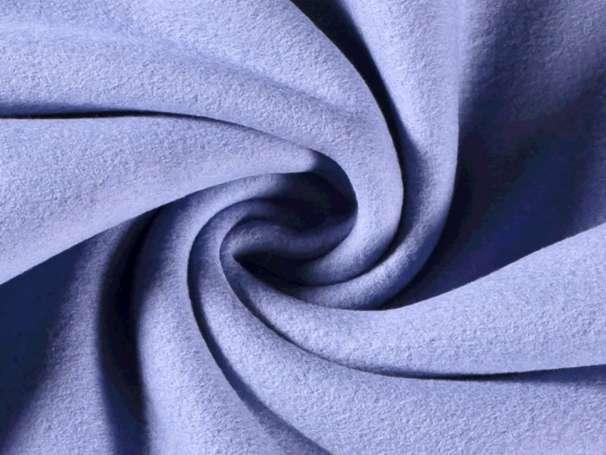 Baumwollfleece - Bene - blau