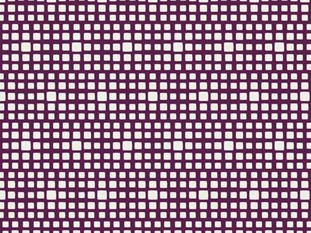 Baumwolle Stoff - Squared - Merlot
