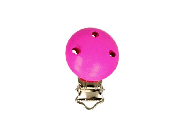 Schnuller-Ketten Clip - klein - pink