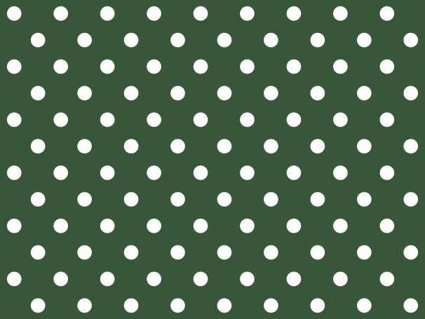 BAUMWOLLE Stoff - Punkte - dunkelgrün,weiß
