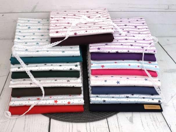 Jersey Stoff - Sprinkle STARS, verschiedene Farben