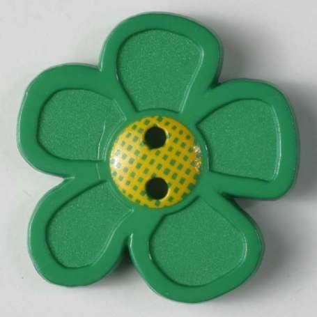 Knopf Blume 20mm - grün