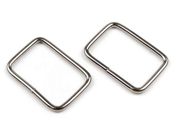 4 Vierkantringe - 20 mm - silber