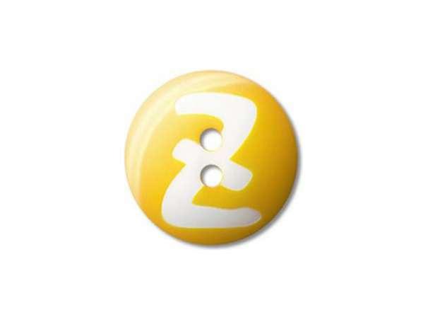 Buchstaben Knopf - 20 mm - Z