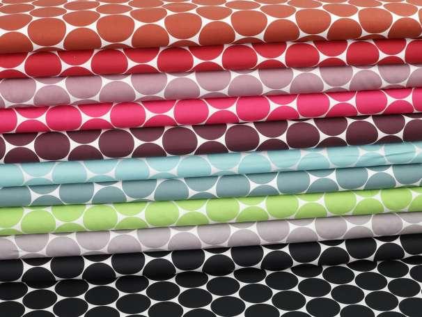 Baumwolle Stoff - MAXI Punkte - verschiedene Farben