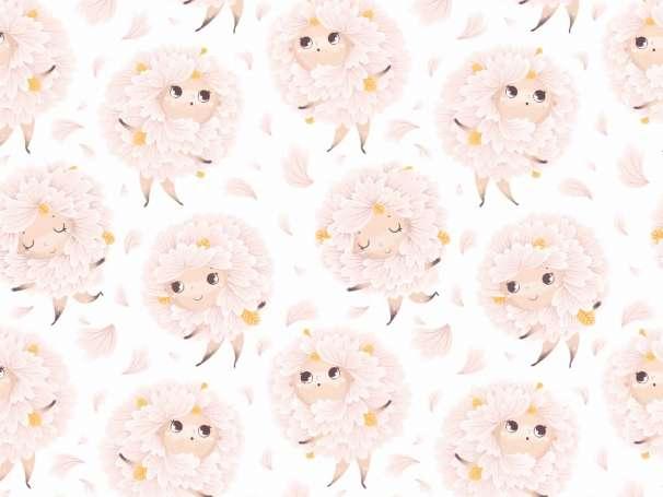 Jersey Stoff - Flowery
