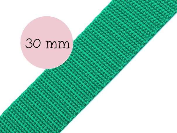 Gurtband - 30mm - smaragdgrün