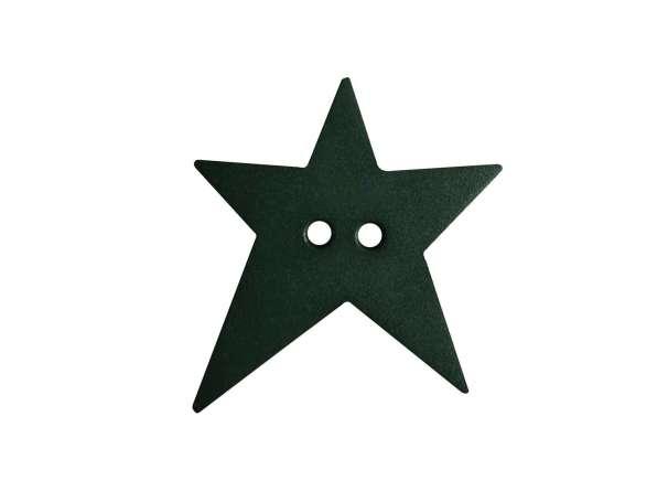 Knopf Stern 15mm - dunkelgrün
