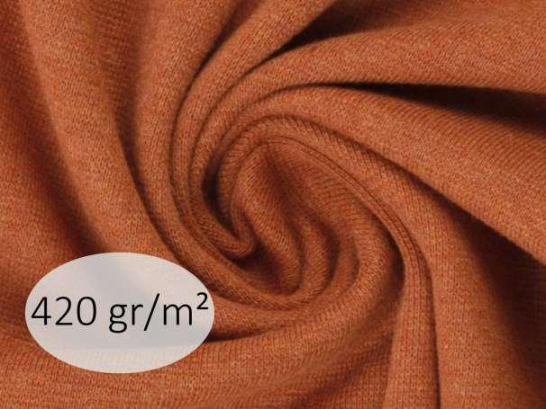 Bündchenstoff - ANTJE 420 gr. - terracotta meliert