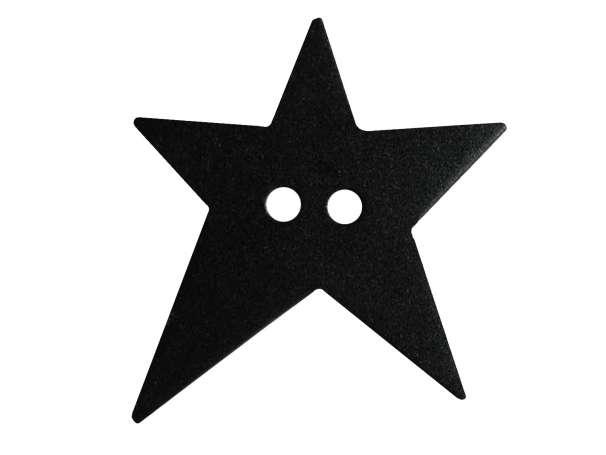 Knopf Stern 28mm - schwarz
