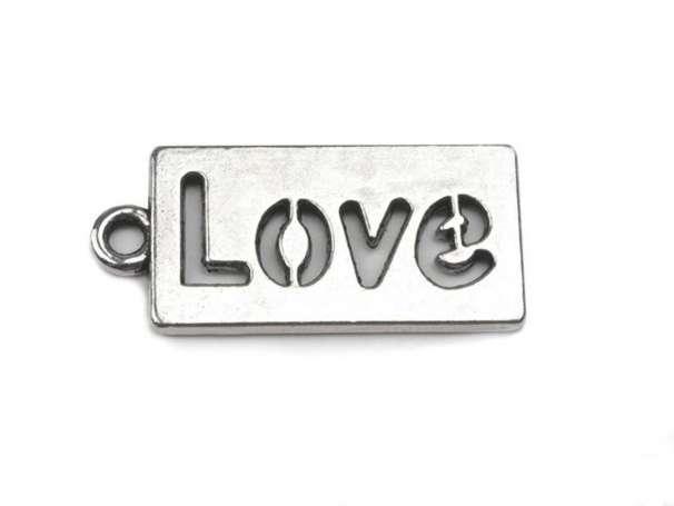 Anhänger - Love - platin