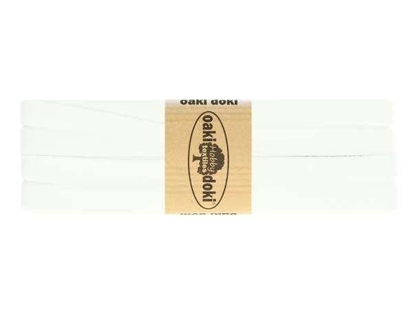 3m Jersey Schrägband - Viskose - 300 weiß