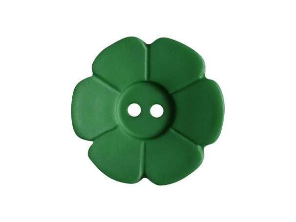 Knopf Blümchen 15mm - grün