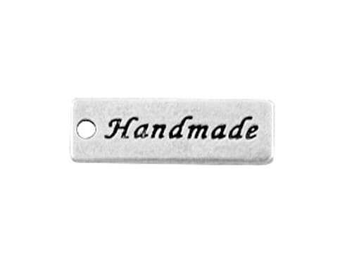 Anhänger - Handmade Label - silber