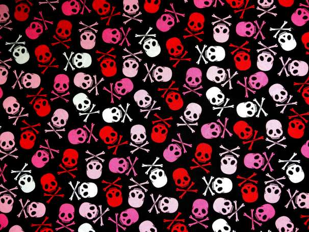 Baumwolle Stoff - Skull Scatter