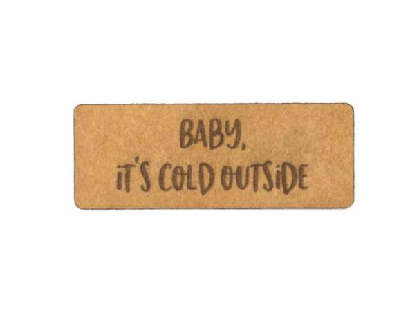 SnaPpap Label - Baby, it's cold outside