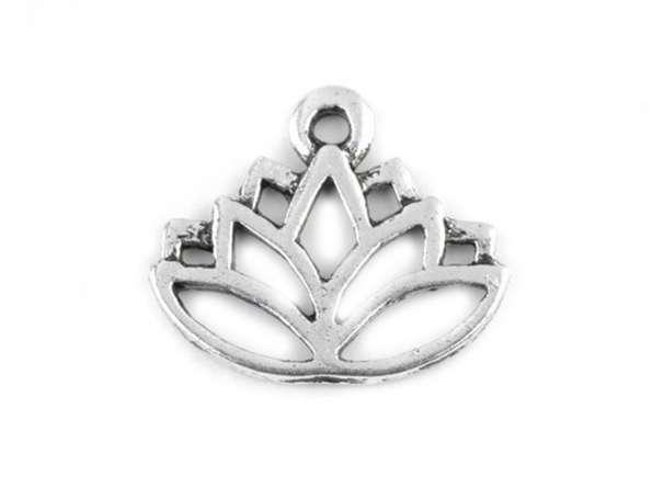 Anhänger - Lotus - platin