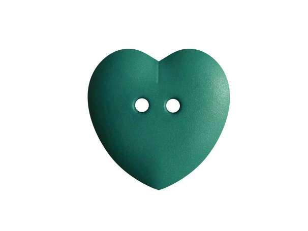 Knopf Herz 15mm - petrolgrün
