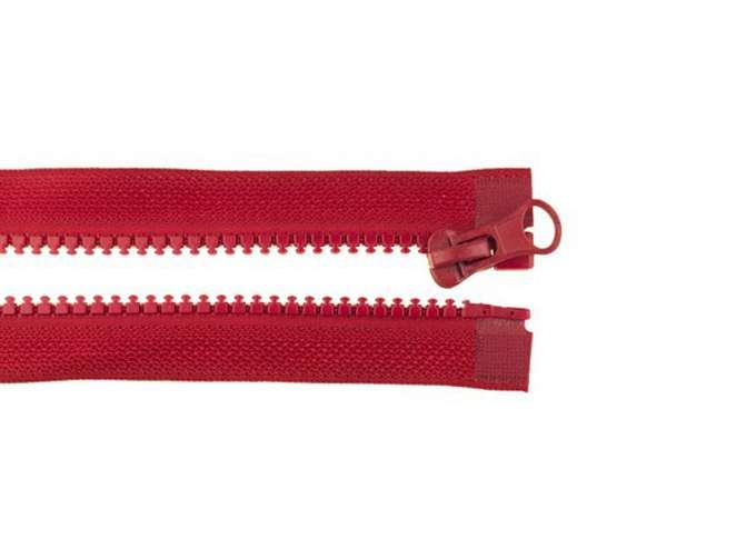 Teilbarer Reißverschluss - 90 cm - weinrot