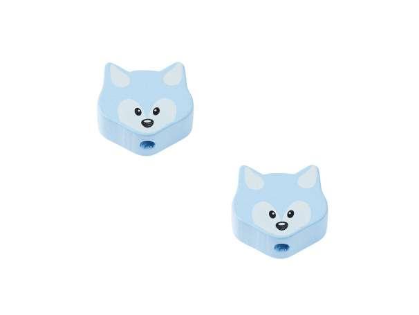 Schnulli-Fuchs-Perlen - 2 Stück - hellblau