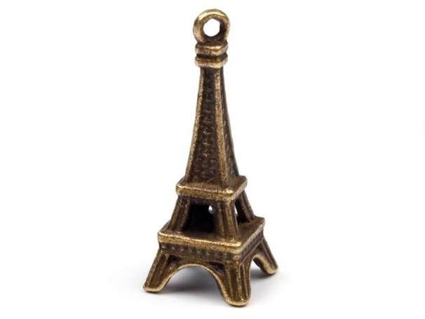 Anhänger - Eiffelturm - altmessing