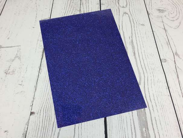 Glitzer Plotterfolie - DIN A4 - royalblau