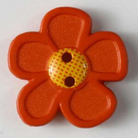 Knopf Blume 20mm - orange