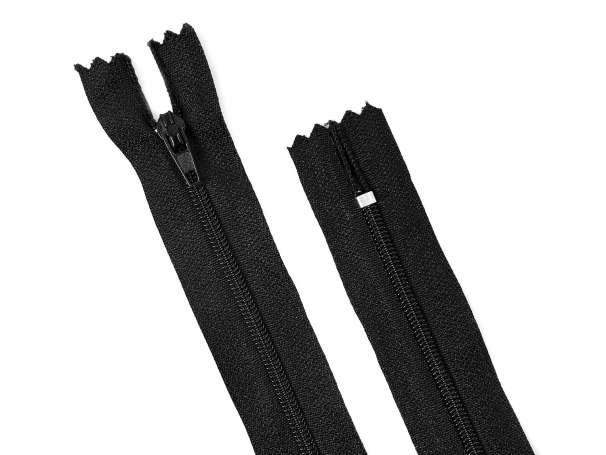 Reißverschluss - 18 cm - schwarz